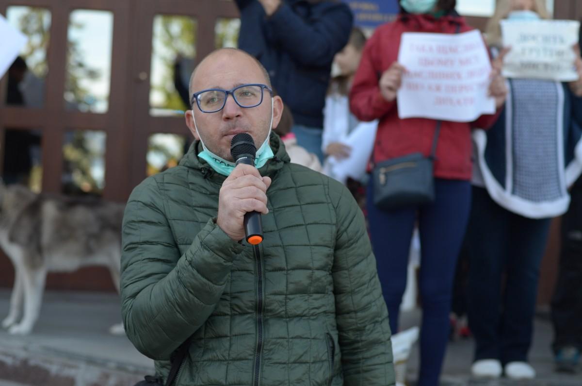 Андрій Саук виступає на екологічний акції протесту