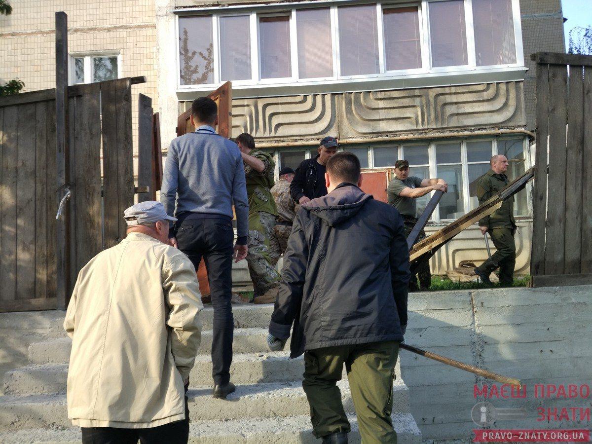 Протест проти будівництва на вул. Грушевського, 3