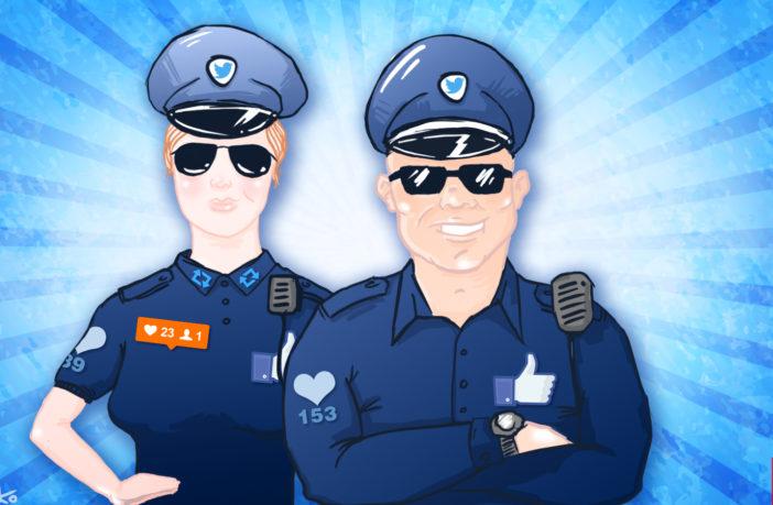 Карикатура на поліціянтів