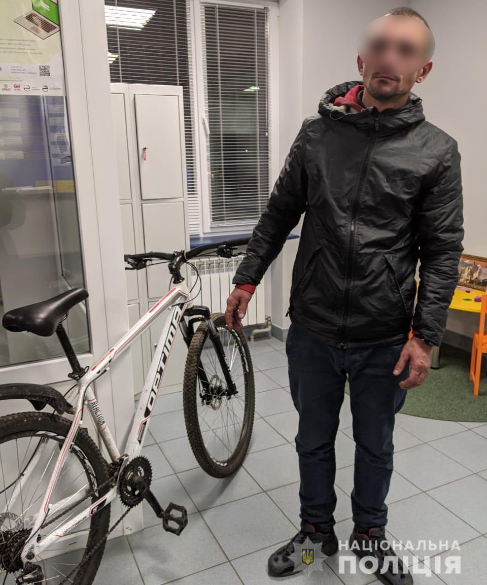 затриманий викрадач велосипеда