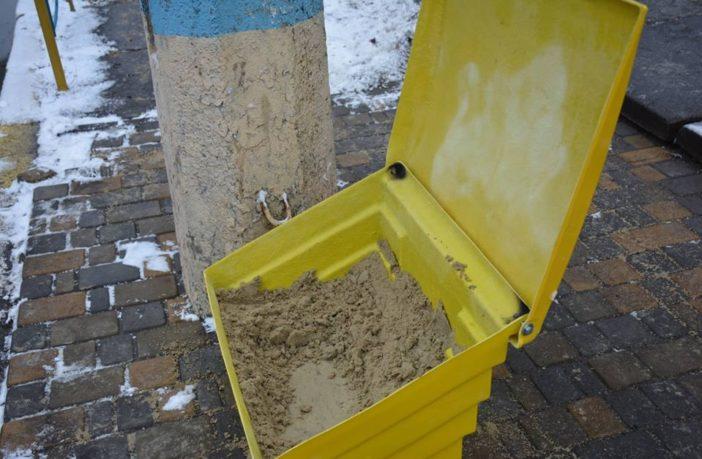 пісок контейнер ожеледиця