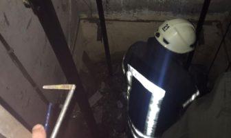 Ліквідація пожежі в шахті ліфтна