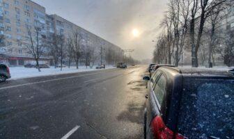зима в Броварах
