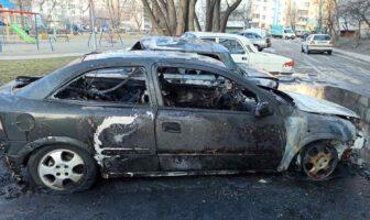 згоріли автівки