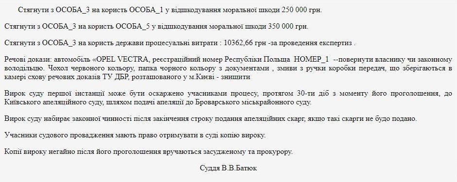 Рішення суду ДТП Автошкола