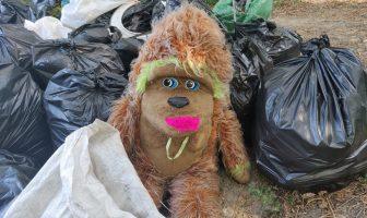 М'яка іграшка на смітті