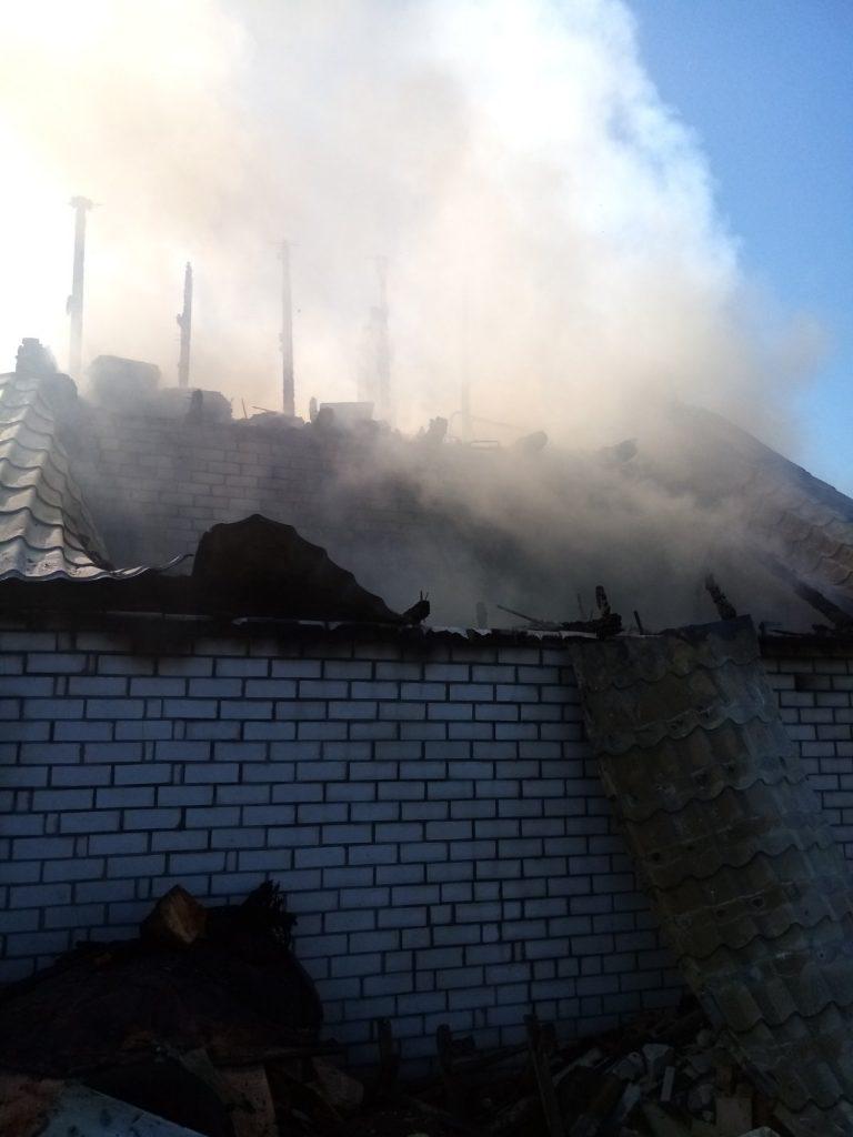Пожежа дачного будинку в Заворичах