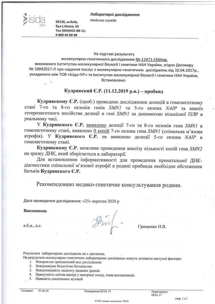 Допомога Єгор Кудрявський хвороба СМА