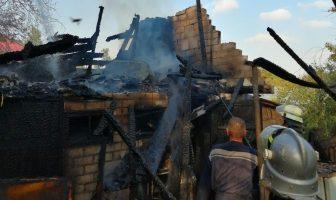 Пожежа господарчої будівлі в с. Требухів