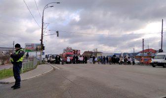 Акція протесту на вулиці Київська, перекриття руху автотранспорту