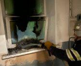 У Броварах на Київській невідомі підпалили нове вікно
