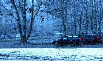 Снігопад у Броварах
