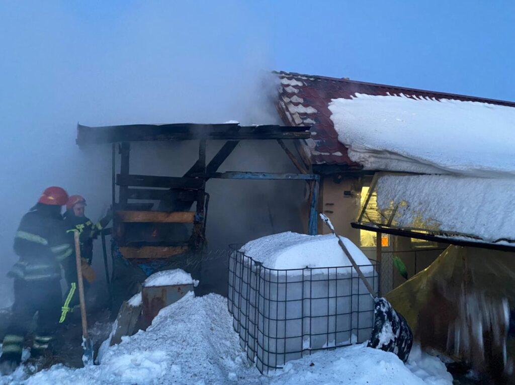 пожежа в Требухові 14 лютого 2021