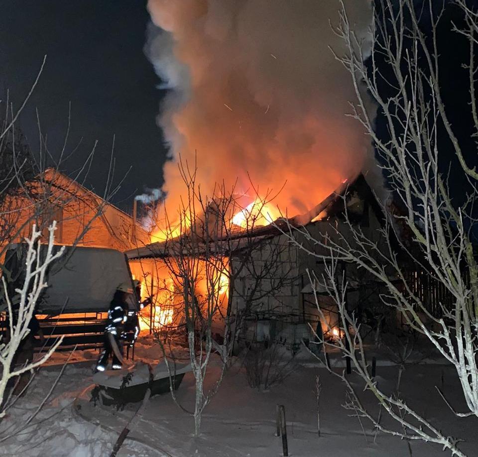 пожежа в Зазим'ї 15 лютого 2021