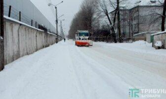 очистка сніга на вулицях