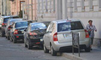 паркування на тротуарах