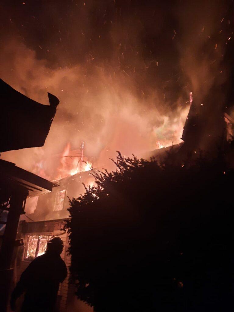 Пожежа в Зазим'ї 8 березня