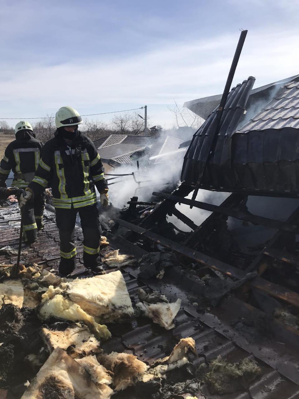 Пожежа Богданівка, 25.03.2021, фото - ДСНС