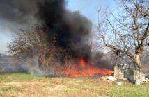 Пожежа трави та чагарників, фото - ДСНС, Калита