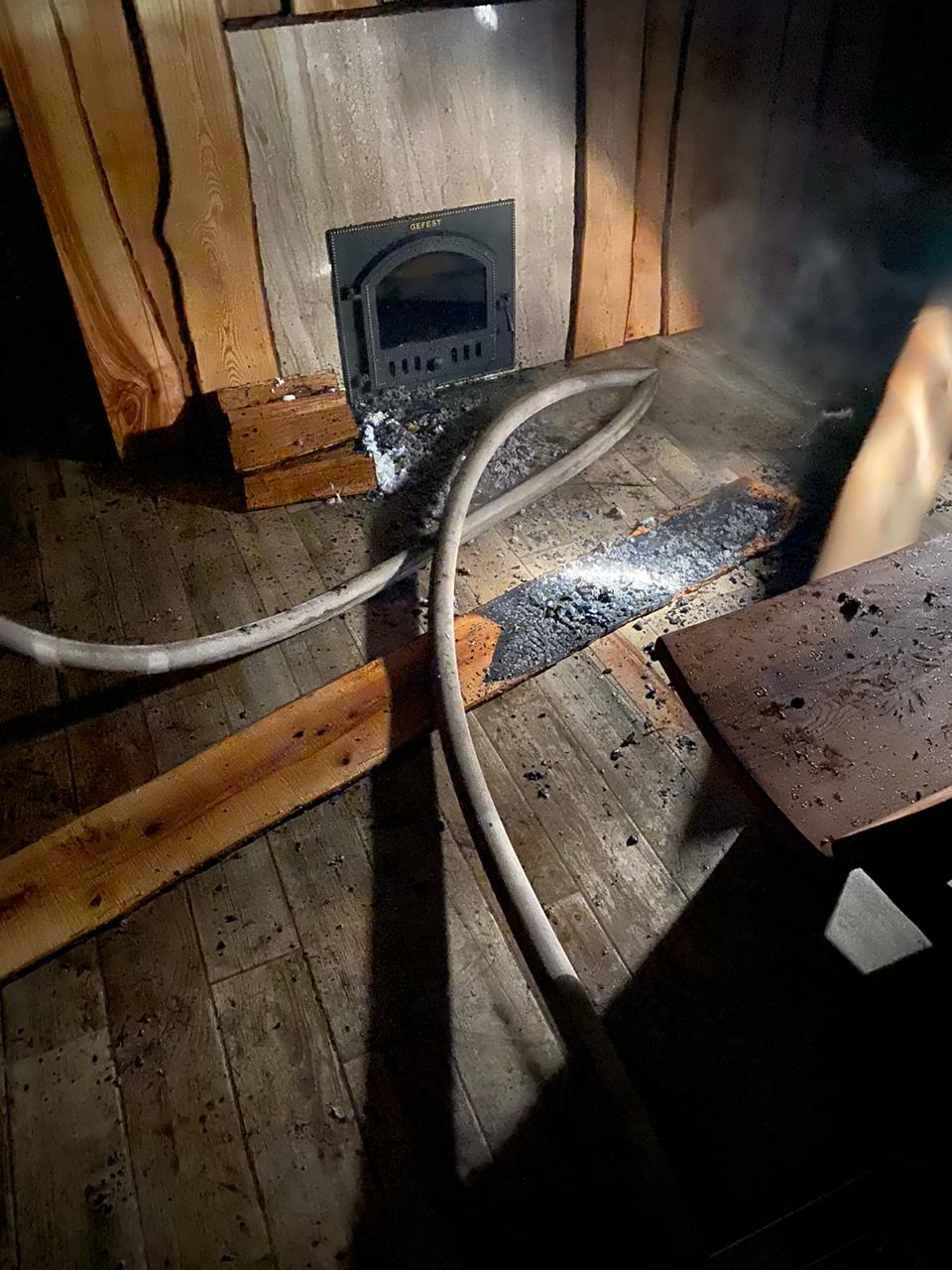 Пожежа в селі Зазим'я, баня, фото - ДСНС