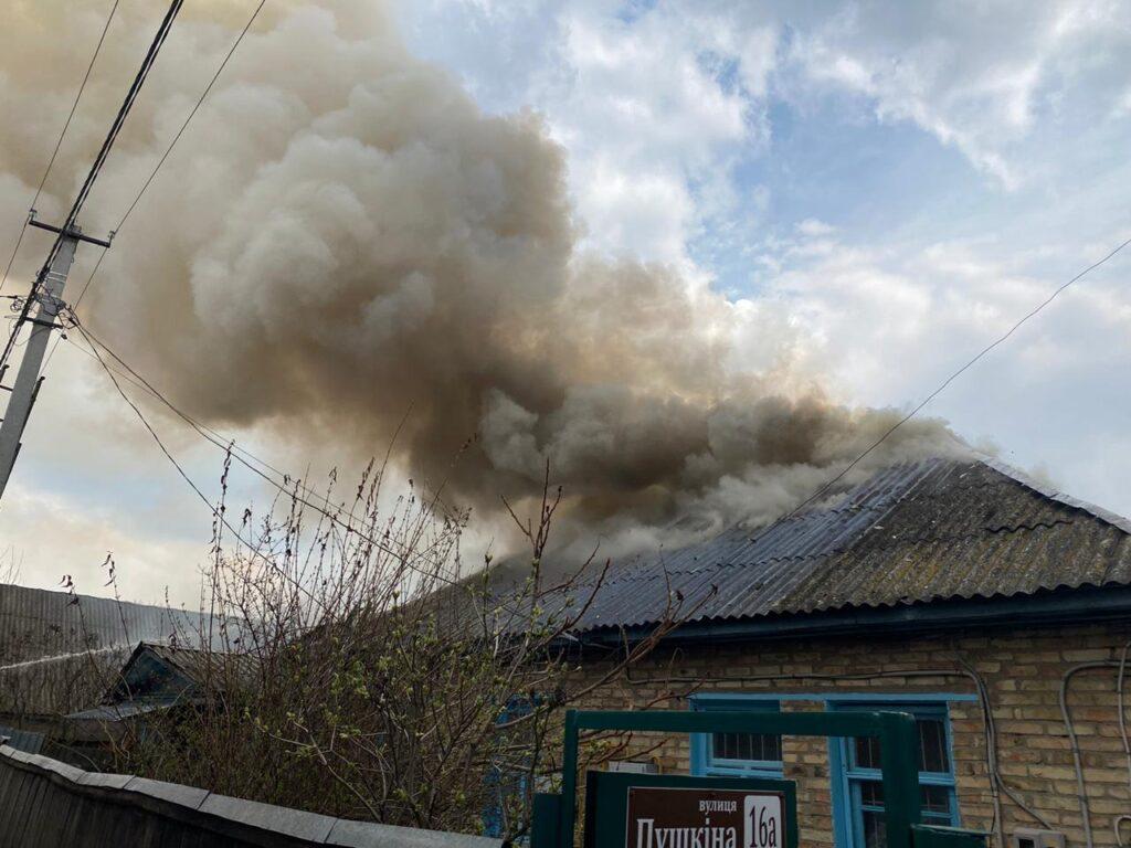 Пожежа в селі Рожни, будинок, фото - ДСНС