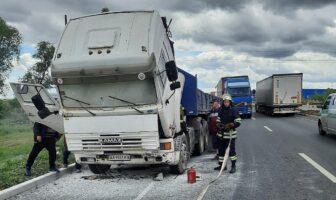 пожежа вантажний автомобіль об'їзна, фото - ДСНС