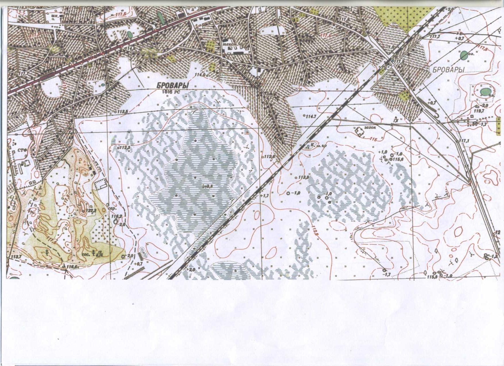 мапа Броварів