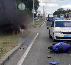 Трагічна ДТП у Броварах на Київській за участі моторолера. ВІДЕО