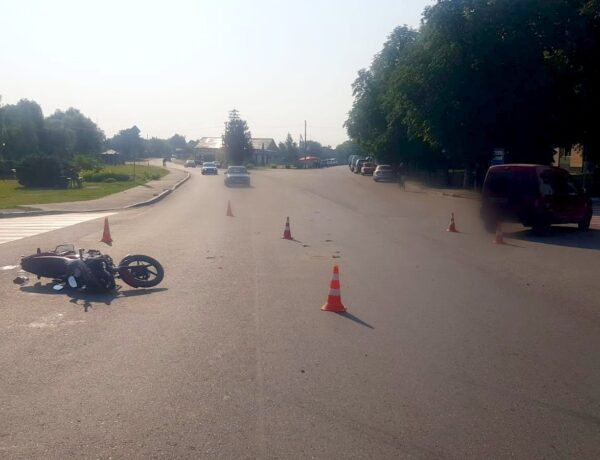 ДТП із потерпілим у Требухові за участі мотоцикліста. ВІДЕО