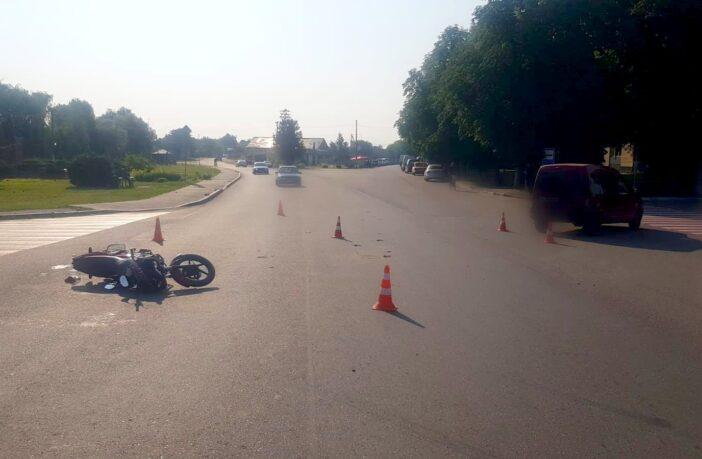 ДТП в Требухові за участі мотоцикліста, фото - поліція