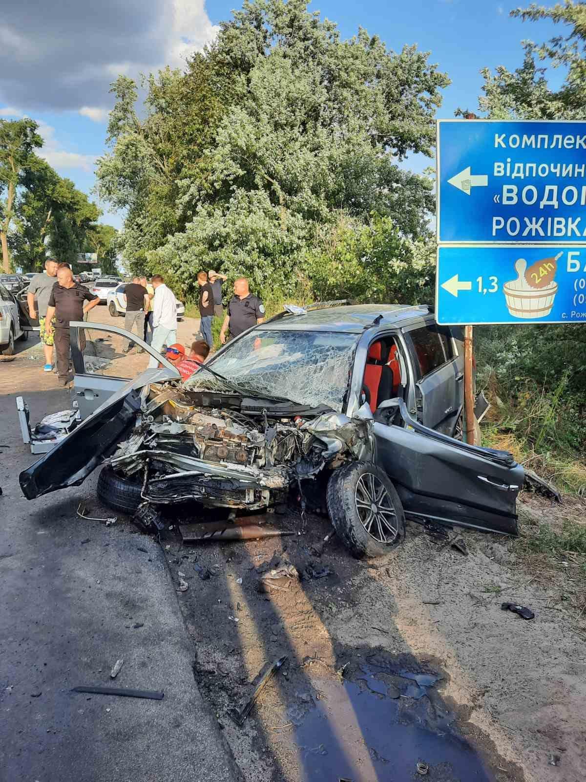 Смертельна ДТП біля Рожівки, 12.08.2021, фото - поліція