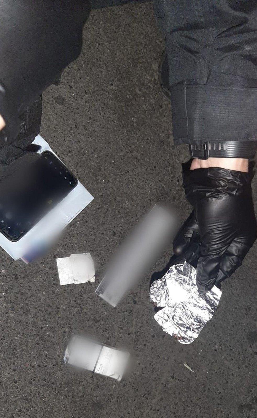 Зупинили скутериста з наркотиками, фото - поліція